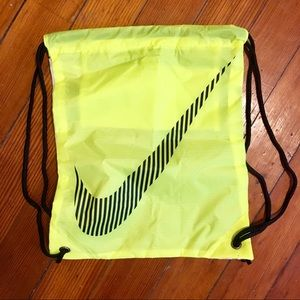 Nike Neon logo zippered pouch drawstring bag